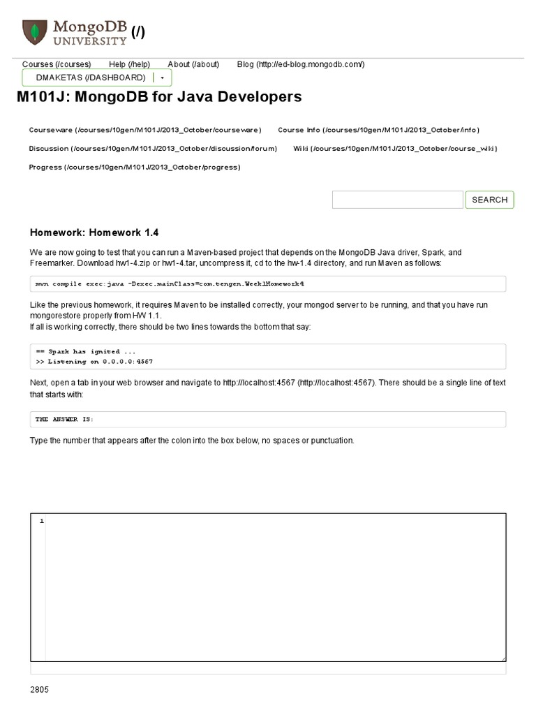 m101j homework 1.1