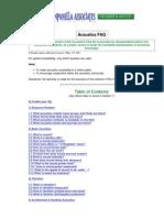 Acoustics CampanelLa FAQ