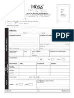 Infosys Application Form
