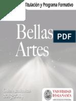 Grado en Bellas Artes 2013