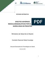 Quinolonas y Artropatia en Pediatria