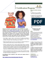 Health literacy quality improvement program flyer for American Board of Pediatrics