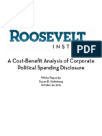 A Cost-Benefit Analysis of Corporate Political Spending Disclosure