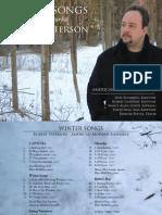 Winter Songs - Digital Booklet (design by Pat Burke)