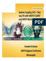 Two Way Fluid-Mechanical System Interaction using ANSYS