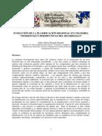 Rengifo Julian Evolucion de la planificación regional en Colombia