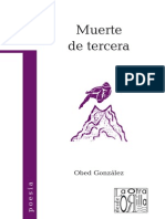 Obed González - Muerte de tercera