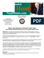 Statement on NCAE Teacher Strike