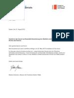 Brief EinsichtGesuchStaatsrat
