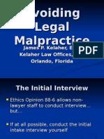 Avoiding Legal Malpractice