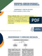 G. Modernidad y Cs. Sociales. Unidad 1. Ciencias Sociales