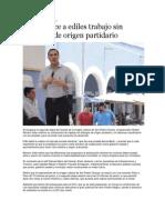 16-07-2013 Puebla on Line - RMV Ofrece a Ediles Trabajo Sin Distingos de Origen Partidario