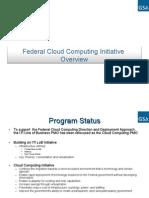 US Federal Cloud Computing Initiative Overview Presentation, (GSA)