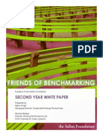 Friends of Benchmarking Second Year White Paper