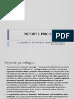 REPORTE PSICOLÓGICO