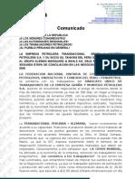 COMUNICADO FENUPETROL GRAÑA Y MONTERO 02-08-09