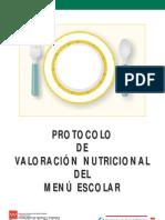 Protocolo valoracion menu escolar