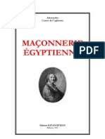 Maconnerie Egyptienne - Alessandro Comte de Cagliostro