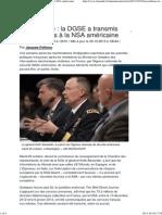 Surveillance _ la DGSE a transmis des données à la NSA américaine