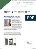Motorola présente Ara, son projet de téléphone modulaire - Le Monde Informatique
