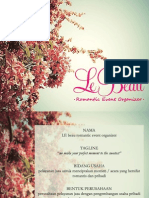 Le Beau Romantic Event Organizer