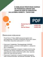 Analisis Kebijakan Peraturan Daerah Mengenai Penanggulangan Dan Pencegahan