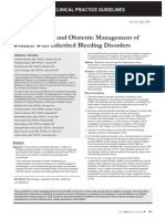 Gynaecological and Obstetric Management of Women With Inherited Bleeding Disorders