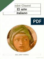 CHASTEL, ANDRÉ El arte italiano
