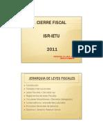 Cierre Ejercicio Isr-ietu 2011.Cadefi.nov2011