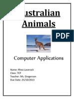 laverock rhea australian animals