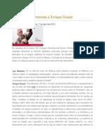 E. Dussel Luis Martínez entrevista