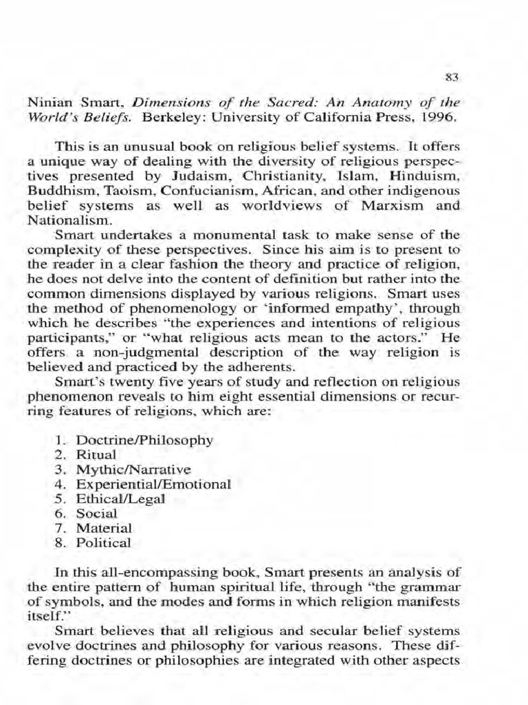 Ninian Smart.pdf   Cultural Anthropology   Religious Belief And Doctrine