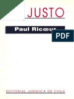 Lo Justo Paul Ricoeur