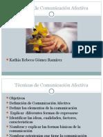 Técnicas de Comunicación Afectiva