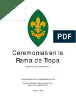 Ceremonias en La Rama de Tropa