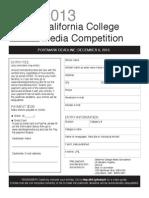 CCMA Contest Form-2013