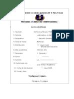 Propuesta de Programa Constitucional