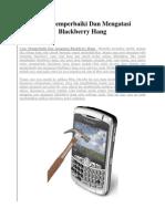 Cara Memperbaiki Dan Mengatasi Blackberry Hang