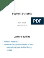 Business Statistics L1