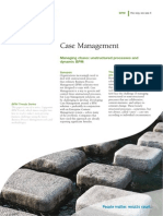 Case Management Managing Chaos Unstructured Processes and Dynamic BPM