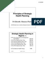 Principles of Strategic Health Planning