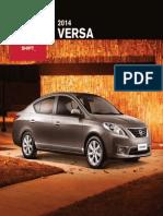 Catalogo Nissan Versa 2014