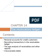 Chapter 14 - The Receivables Ledger
