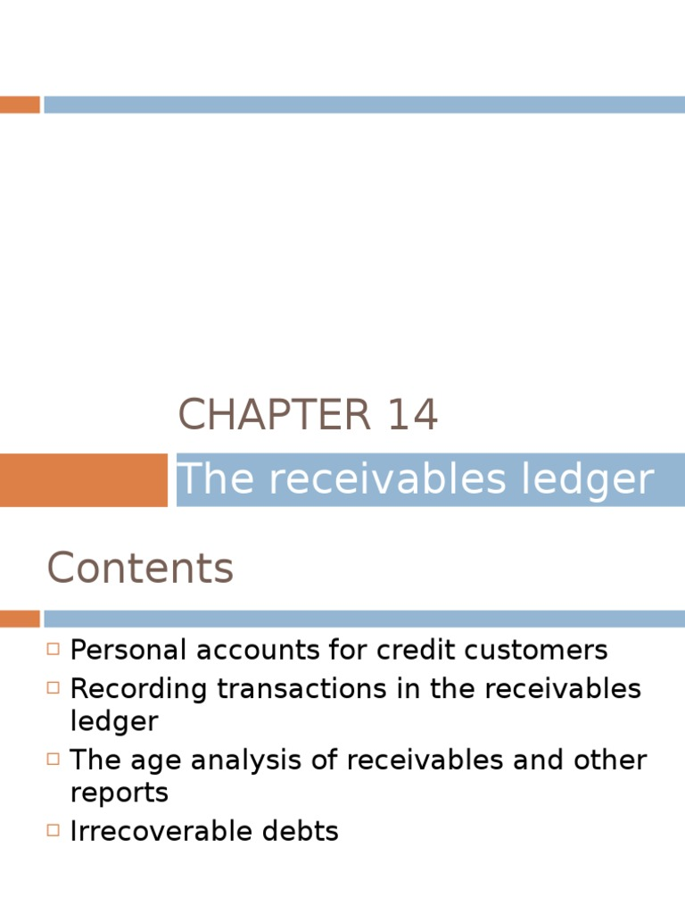 chapter 14 the receivables ledger debits and credits accounting