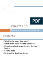 Chapter 13 - Sales and Sales Returns Day Books