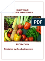 Know Your Fruits and Veggies From C to D