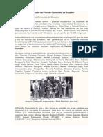 Antecedentes de La Lucha Del Partido Comunista de Ecuador