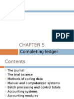 Chapter 5 - Completing Ledger Accounts