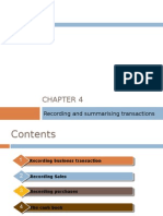 Chapter 4 - Recording and Summarizing Transactions