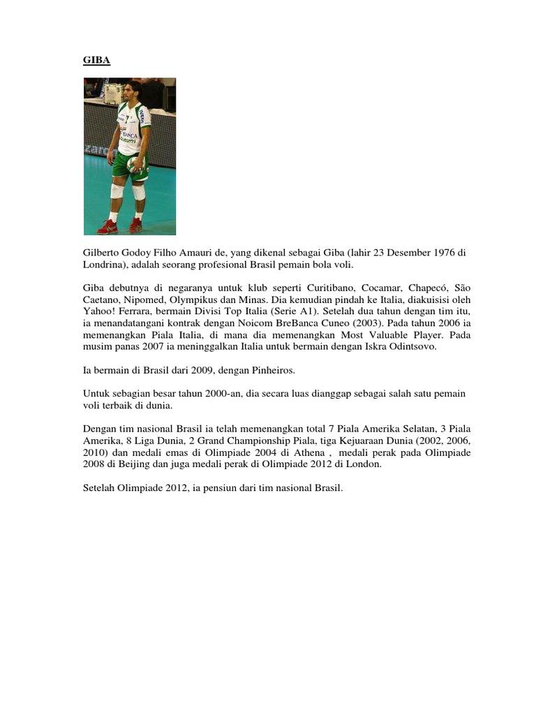 Biografi Pemain Voli